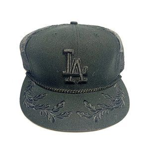 New Era LA Hat Fitted 7 1/2 Blacked Out